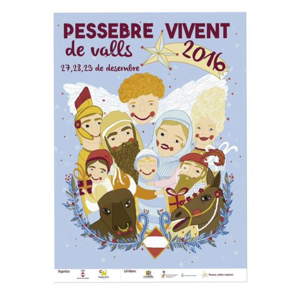 Cartel  Pessebre vivent de Valls. Ajuntament de Valls