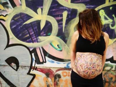 Panxa embarassada pintada