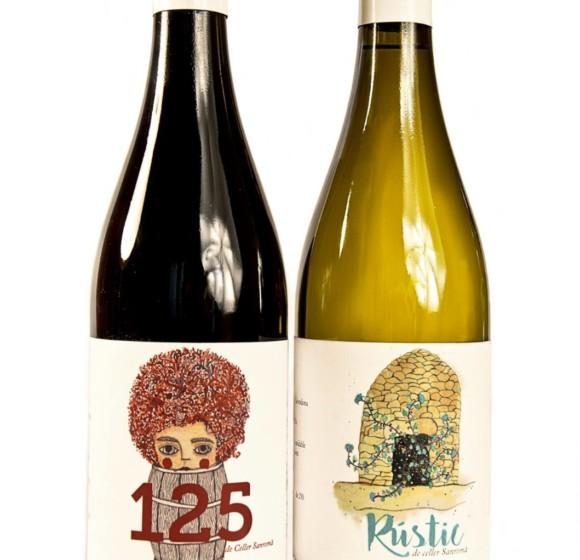 Etiquetes vins Celler Sanromà 2016