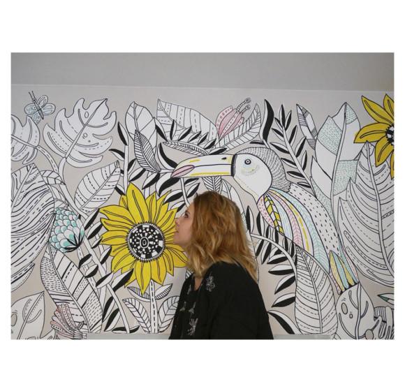 Mural. Sunflower hostel. Berlin 2018