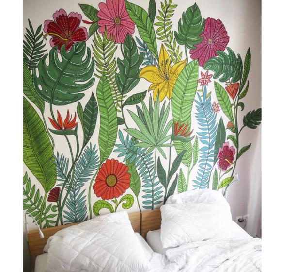 Proyecto pintura mural en Sunflower hostel. Berlin. 2018